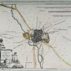 Arte: MAPA PLANO DE MADRID - SIGLO XVIII - ORIGINAL. Lote 132017370