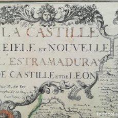 Arte: MAPA DE CASTILLA ALBACETE EXTREMADURA LEON - AÑO 1706 - GRAN FORMATO - ORIGINAL. Lote 132427194