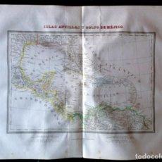 Arte: MAPA ISLAS ANTILLAS Y GOLFO DE MÉJICO DE 1835. TARDIEU.. Lote 132502130