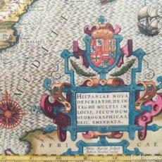 Arte: MAPA DE ESPAÑA Y PORTUGAL - AÑO 1609 - HONDIUS - P- KAERIUS - ORIGINAL. Lote 132510694