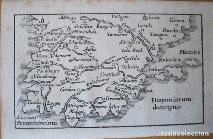 ANTIGUO MAPA DE ESPAÑA Y PORTUGAL, 1664. BUCELINUS (Arte - Cartografía Antigua (hasta S. XIX))