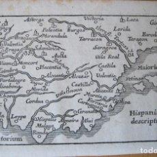 Arte: ANTIGUO MAPA DE ESPAÑA Y PORTUGAL, 1664. BUCELINUS. Lote 132513422