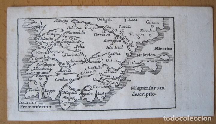 Arte: Antiguo mapa de España y Portugal, 1664. Bucelinus - Foto 2 - 132513422