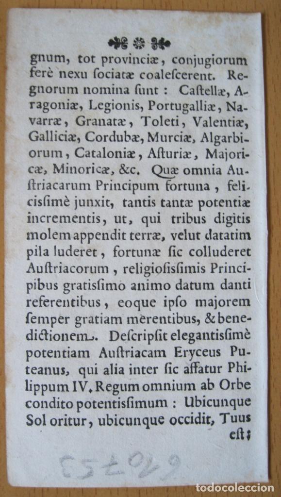 Arte: Antiguo mapa de España y Portugal, 1664. Bucelinus - Foto 3 - 132513422