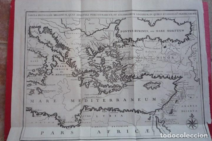 AÑO 1766. TABULA PECULIARIS REGIONUM (RUTAS QUE SIGUIERON LOS APÓSTOLES PARA PREDICAR EL EVANGELIO). (Arte - Cartografía Antigua (hasta S. XIX))