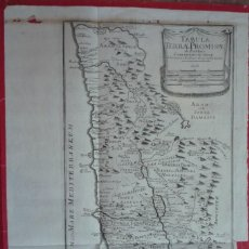 Arte: AÑO 1766. TABULA TERRAE PROMISSAE (MAPA DE LA TIERRA PROMETIDA EN TIEMPOS DE JOSUÉ)......... Lote 132948894