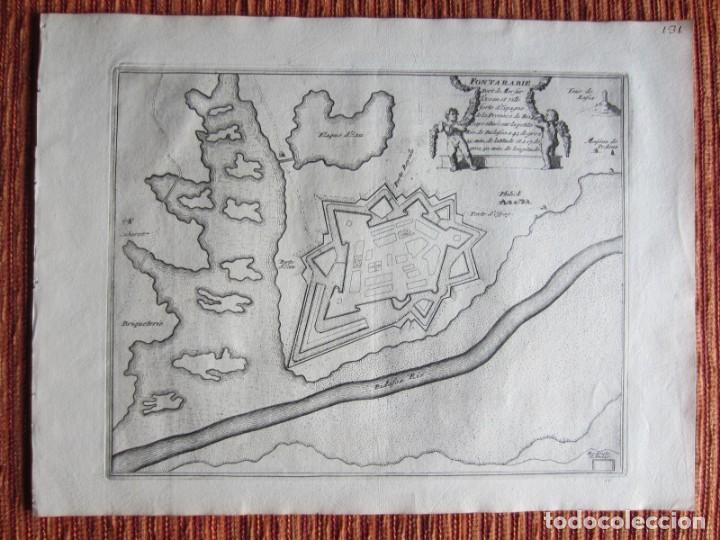 1694 -PLANO MAPA FUENTERRABIA.GUIPÚZCOA.GRABADO ORIGINAL (Arte - Cartografía Antigua (hasta S. XIX))