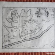 Arte: 1694 -PLANO MAPA FUENTERRABIA.GUIPÚZCOA.GRABADO ORIGINAL. Lote 133453610