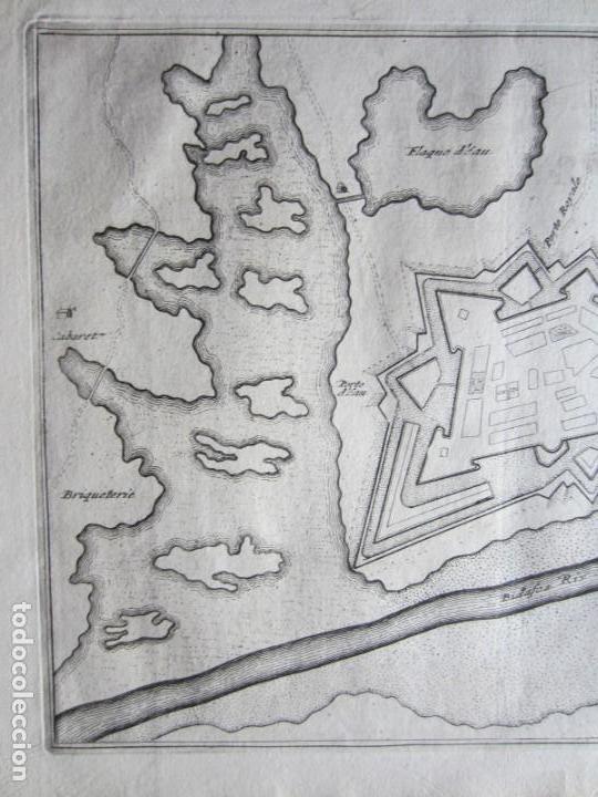 Arte: 1694 -PLANO MAPA FUENTERRABIA.GUIPÚZCOA.GRABADO ORIGINAL - Foto 2 - 133453610