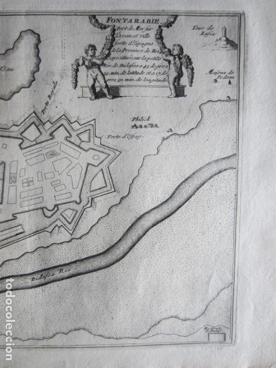 Arte: 1694 -PLANO MAPA FUENTERRABIA.GUIPÚZCOA.GRABADO ORIGINAL - Foto 3 - 133453610