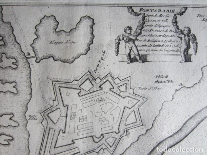 Arte: 1694 -PLANO MAPA FUENTERRABIA.GUIPÚZCOA.GRABADO ORIGINAL - Foto 4 - 133453610
