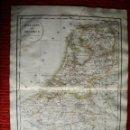 Arte: 1835-MAPA PLANO BELGICA Y HOLANDA. ORIGINAL. Lote 133650458