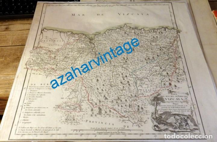 MAGNÍFICO MAPA DEL SEÑORÍO DE VIZCAYA. 1769. 445X390MM (Arte - Cartografía Antigua (hasta S. XIX))