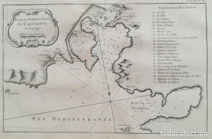 Mapa De Cartagena Murcia.Mapa De Cartagena Y Su Costa Murcia Ano 176 Sold