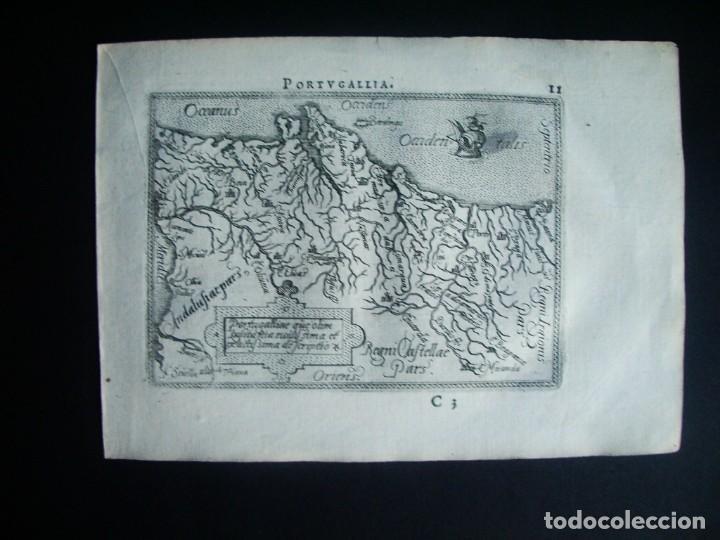 1589-MAPA PORTUGAL. ABRAHAM ORTELIUS. THEATRUM ORBIS TERRARUM. ORIGINAL (Arte - Cartografía Antigua (hasta S. XIX))