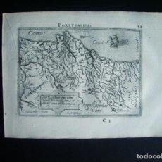 Arte: 1589-MAPA PORTUGAL. ABRAHAM ORTELIUS. THEATRUM ORBIS TERRARUM. ORIGINAL. Lote 134855338