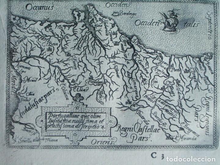 Arte: 1589-MAPA PORTUGAL. ABRAHAM ORTELIUS. Theatrum Orbis Terrarum. ORIGINAL - Foto 2 - 134855338