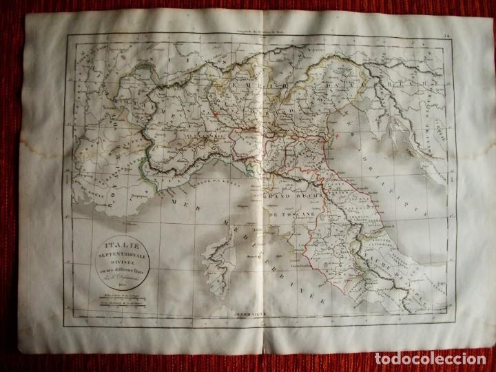 Mapa De Italia Roma.1834 Mapa De Italia Toscana Milan Torino Roma Bolonia Mantova Felix Delamarche Original