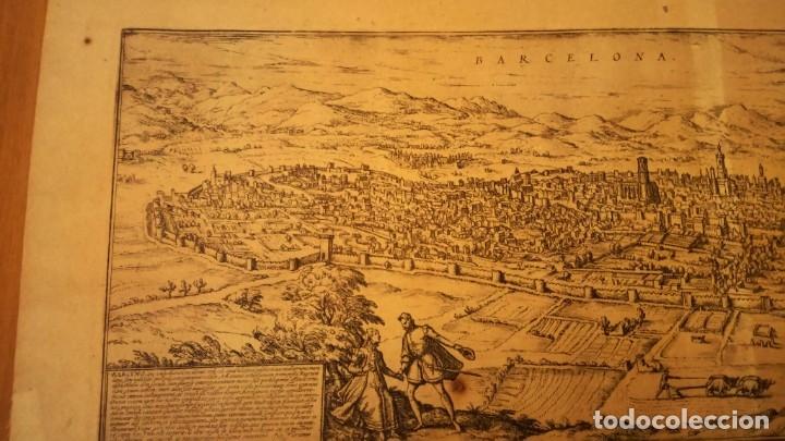 Arte: GRABADO ORIGINAL,PRIMER PLANO EN EL MUNDO DE BARCELONA Y ECIJA CIVITATES ORBIS TERRARUM,AÑO 1572 - Foto 23 - 134865138