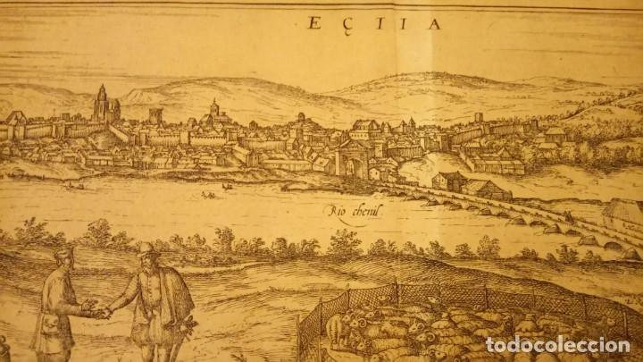 Arte: GRABADO ORIGINAL,PRIMER PLANO EN EL MUNDO DE BARCELONA Y ECIJA CIVITATES ORBIS TERRARUM,AÑO 1572 - Foto 24 - 134865138