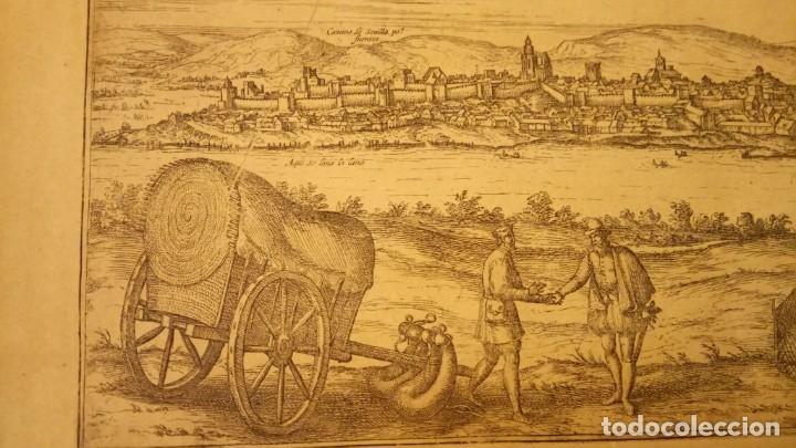 Arte: GRABADO ORIGINAL,PRIMER PLANO EN EL MUNDO DE BARCELONA Y ECIJA CIVITATES ORBIS TERRARUM,AÑO 1572 - Foto 25 - 134865138