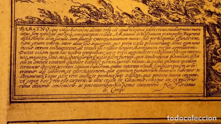 Arte: GRABADO ORIGINAL,PRIMER PLANO EN EL MUNDO DE BARCELONA Y ECIJA CIVITATES ORBIS TERRARUM,AÑO 1572 - Foto 27 - 134865138