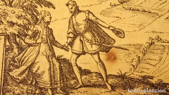 Arte: GRABADO ORIGINAL,PRIMER PLANO EN EL MUNDO DE BARCELONA Y ECIJA CIVITATES ORBIS TERRARUM,AÑO 1572 - Foto 28 - 134865138