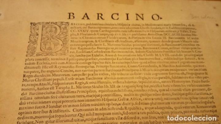 Arte: GRABADO ORIGINAL,PRIMER PLANO EN EL MUNDO DE BARCELONA Y ECIJA CIVITATES ORBIS TERRARUM,AÑO 1572 - Foto 30 - 134865138