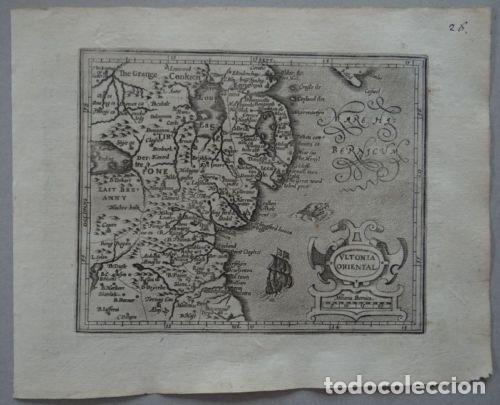 MAPA DE ULSTER (IRLANDA, EUROPA), 1609. MERCATOR/HONDIUS (Arte - Cartografía Antigua (hasta S. XIX))