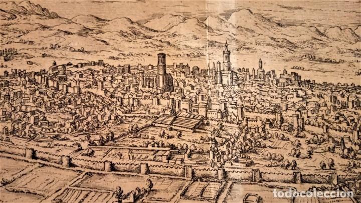 Arte: GRABADO ORIGINAL,PRIMER PLANO EN EL MUNDO DE BARCELONA Y ECIJA CIVITATES ORBIS TERRARUM,AÑO 1572 - Foto 4 - 134865138