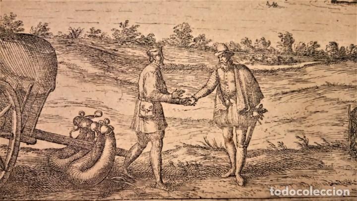 Arte: GRABADO ORIGINAL,PRIMER PLANO EN EL MUNDO DE BARCELONA Y ECIJA CIVITATES ORBIS TERRARUM,AÑO 1572 - Foto 9 - 134865138
