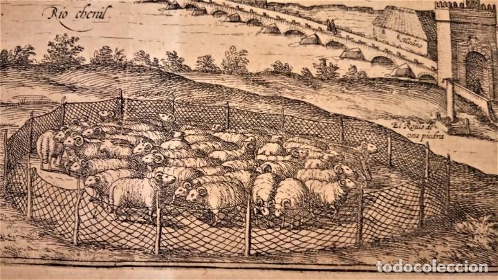 Arte: GRABADO ORIGINAL,PRIMER PLANO EN EL MUNDO DE BARCELONA Y ECIJA CIVITATES ORBIS TERRARUM,AÑO 1572 - Foto 10 - 134865138