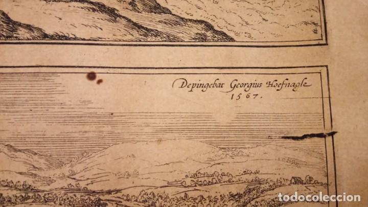 Arte: GRABADO ORIGINAL,PRIMER PLANO EN EL MUNDO DE BARCELONA Y ECIJA CIVITATES ORBIS TERRARUM,AÑO 1572 - Foto 11 - 134865138