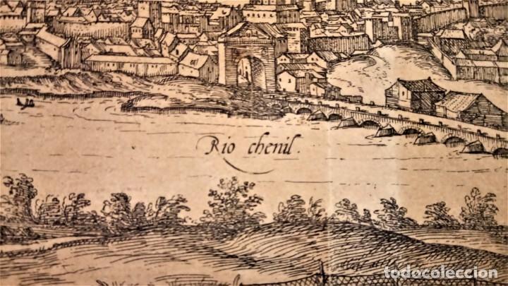 Arte: GRABADO ORIGINAL,PRIMER PLANO EN EL MUNDO DE BARCELONA Y ECIJA CIVITATES ORBIS TERRARUM,AÑO 1572 - Foto 14 - 134865138