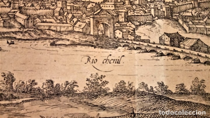 Arte: GRABADO ORIGINAL,PRIMER PLANO EN EL MUNDO DE BARCELONA Y ECIJA CIVITATES ORBIS TERRARUM,AÑO 1572 - Foto 15 - 134865138
