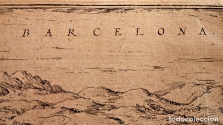 Arte: GRABADO ORIGINAL,PRIMER PLANO EN EL MUNDO DE BARCELONA Y ECIJA CIVITATES ORBIS TERRARUM,AÑO 1572 - Foto 16 - 134865138