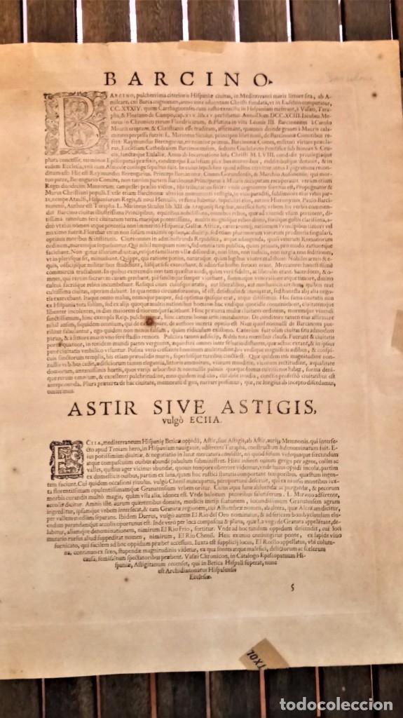 Arte: GRABADO ORIGINAL,PRIMER PLANO EN EL MUNDO DE BARCELONA Y ECIJA CIVITATES ORBIS TERRARUM,AÑO 1572 - Foto 22 - 134865138