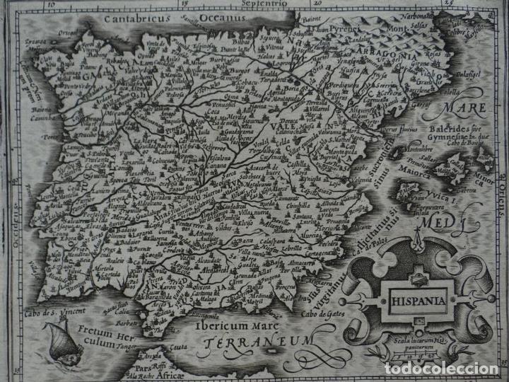 MAPA DE ESPAÑA Y PORTUGAL, 1609. MERCATOR/HONDIUS (Arte - Cartografía Antigua (hasta S. XIX))