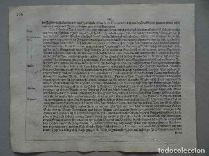 Arte: Mapa de España y Portugal, 1609. Mercator/Hondius - Foto 3 - 135054718
