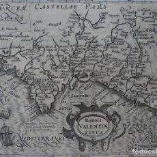 Arte: MAPA DE VALENCIA (ESPAÑA), 1609. MERCATOR/HONDIUS. Lote 135055002
