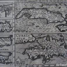 Arte: ANTIGUO MAPA DE CUBA, SANTO DOMINGO, JAMAICA Y ANTILLAS MENORES, 1609. MERCATOR/HONDIUS. Lote 135057070