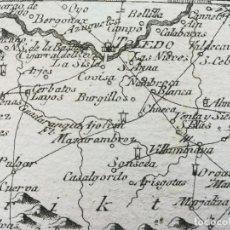 Arte: MAPA DE TOLEDO Y ALREDEDORES - AÑO 1791 - ES ORIGINAL. Lote 135195226
