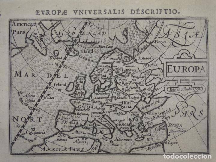 ANTIGUO MAPA DE EUROPA, 1606. BERTIUS (Arte - Cartografía Antigua (hasta S. XIX))