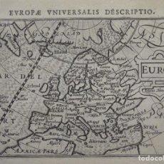 Arte: ANTIGUO MAPA DE EUROPA, 1606. BERTIUS. Lote 135354402