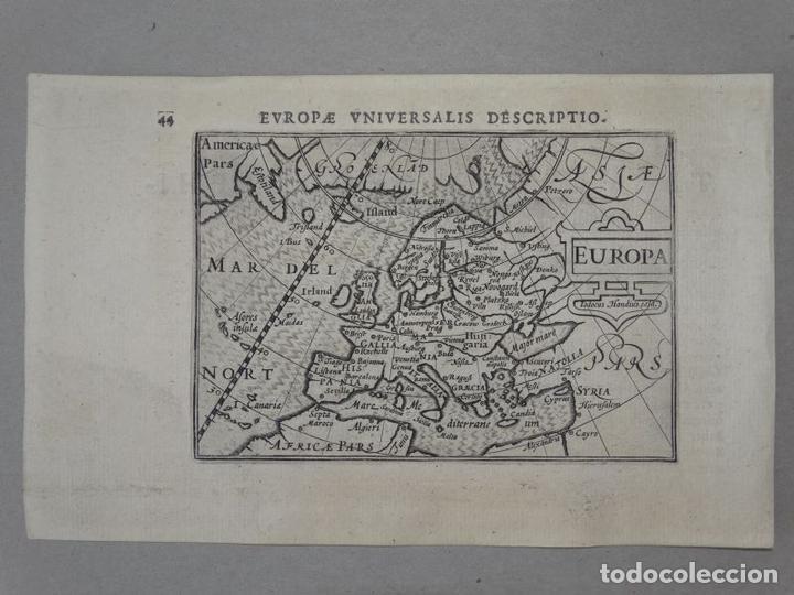 Arte: Antiguo mapa de Europa, 1606. Bertius - Foto 2 - 135354402