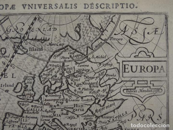 Arte: Antiguo mapa de Europa, 1606. Bertius - Foto 3 - 135354402