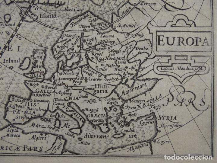 Arte: Antiguo mapa de Europa, 1606. Bertius - Foto 4 - 135354402