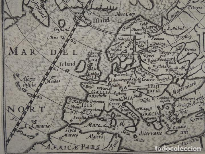 Arte: Antiguo mapa de Europa, 1606. Bertius - Foto 5 - 135354402