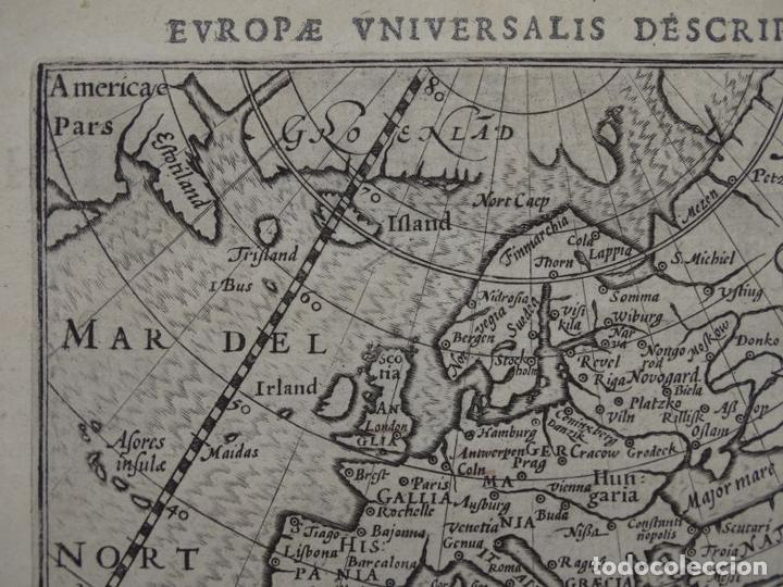 Arte: Antiguo mapa de Europa, 1606. Bertius - Foto 6 - 135354402