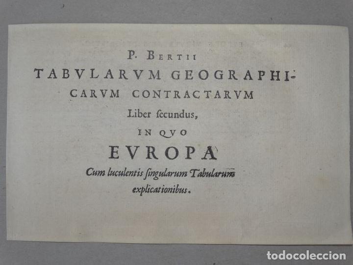 Arte: Antiguo mapa de Europa, 1606. Bertius - Foto 8 - 135354402